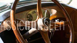 Lincoln wood steering wheel