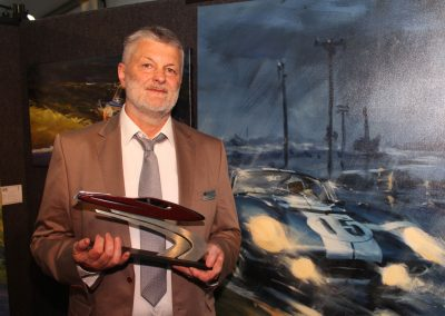 Austrian artist Klaus Wagger with his Art Fitzpatrick Award