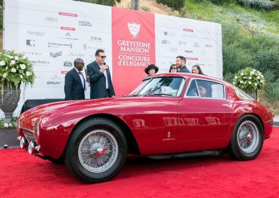Best of Show Concours de Sport, 1954 Ferrari 500 Mondial Berlinetta, owned by A and A Premiere Classics
