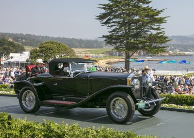 1st Place: 1927 Isotta Fraschini Tipo 8A Fleetwood Roadster, owned by Joseph & Margie Cassini III