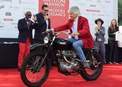 Vinnie Mandzak Motorcycle Award, 1970 Triumph Bonneville, owned by Sonny Nutter