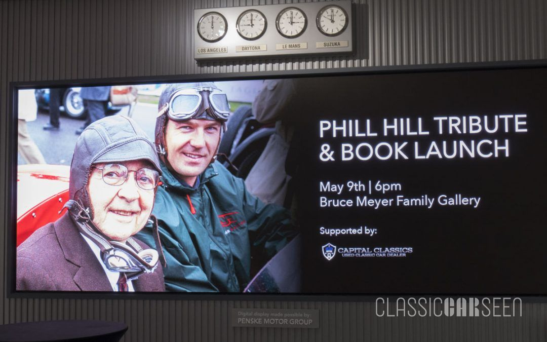 Phil Hill Tribute and Book Launch at Petersen Automotive Museum
